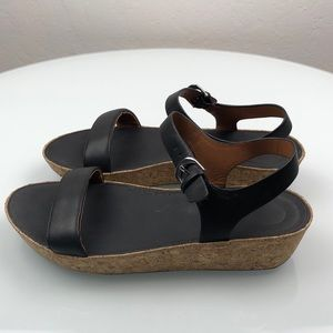 Fitflop Black Leather Sandal